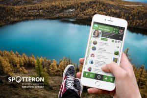 Spotteron app promotion graphic