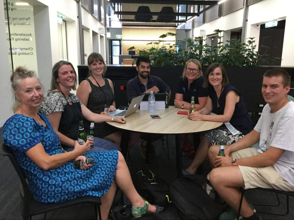 Group gathered for a social occasions at the Citizen Science Association Conference