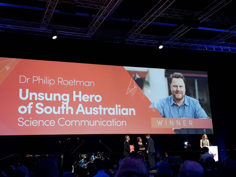 SA Science Excellence Awards – congratulations Philip!